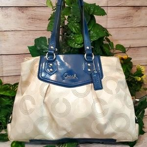Coach Ashley Signature Dotted Op Bag